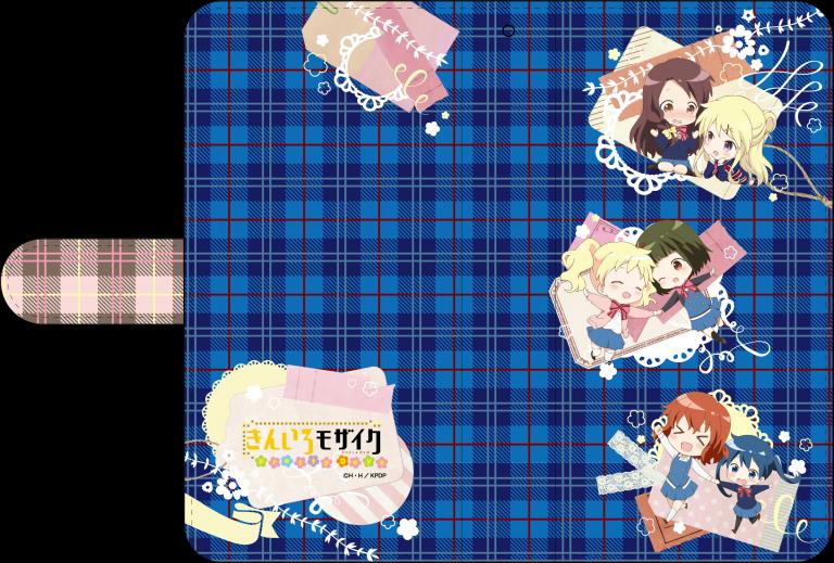 【セール50%OFF】きんいろモザイク Pretty Days/手帳型スマホケース