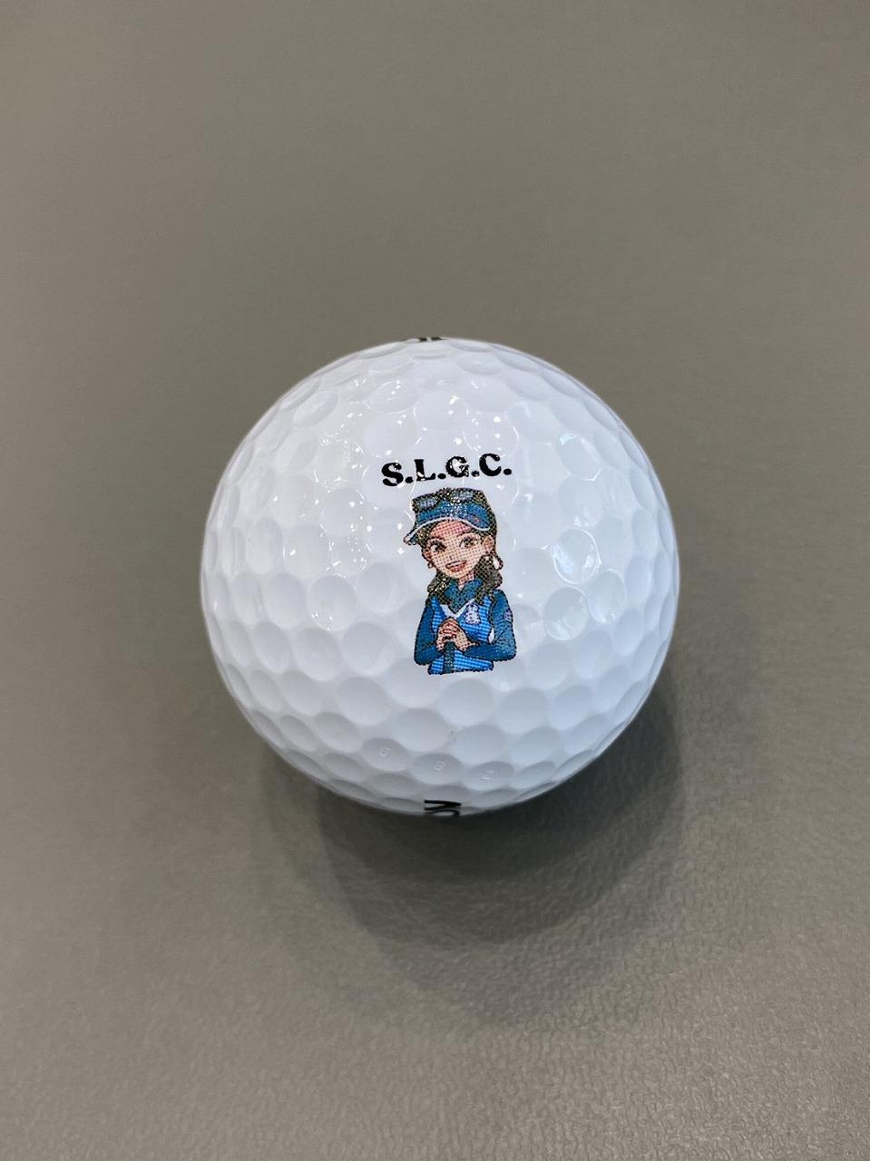 白金台女子ゴルフ部 イラストボール