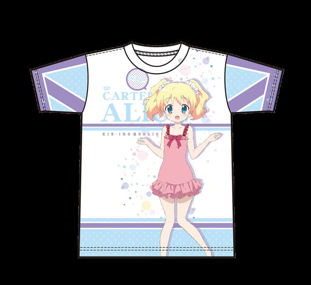 【セール50%OFF】きんいろモザイク Pretty Days/フルグラフィックTシャツ アリス