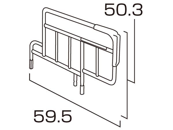パラマウント KS-151Q ベッドサイドレール