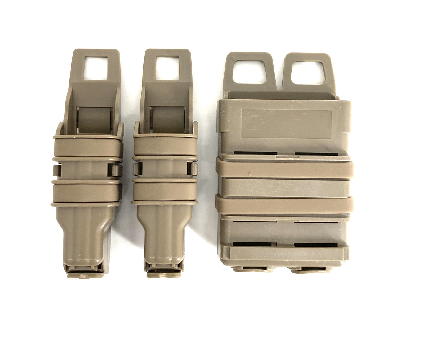 Rapidfire FastMag FOR MP5 MAG* 2PCS AND M4 MAGAZINE*1 PCS 2PCS TAN