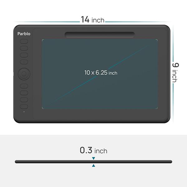 【新品】Parblo 10インチペンタブレット [IntangboM](並行輸入品)