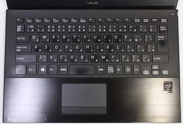 【中古・難有】 SONY 13.3型 VAIO Pro13 mk2 [VJP132C11N BK] (Core i5-5200U 2.2Hz/ メモリ8GB/ SSD256GB/ Wifi,BT/10Pro64bit)※画面キズ・シミあり