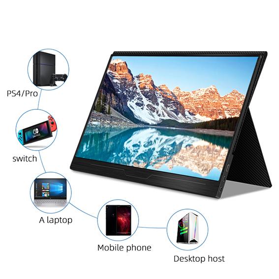【新品】 GieS 13.3インチ FHD極薄型 モバイルモニター[HS133PE](IPS液晶パネル/ HDR/ FHD1080P/ スピーカー内蔵/ USB-PD対応)