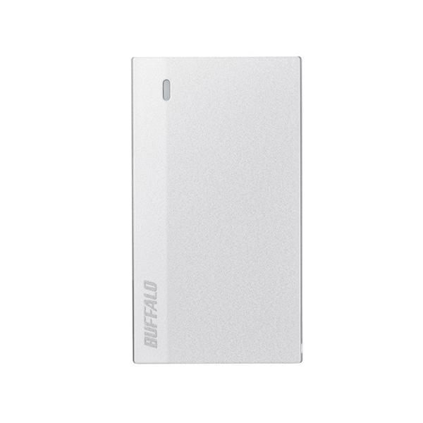 【新品】 Buffalo 120GB 外付けSSD USB 3.2(Gen 1)対応 超小型ポータブルSSD ウルトラホワイト [SSD-PSM120U3-UW]