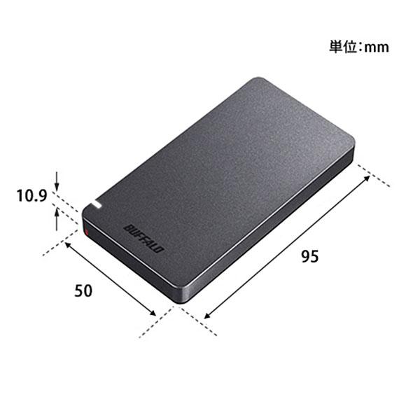 【新品】BUFFALO USB 3.2(Gen 2)接続 外付けポータブルSSD 240GB [SSD-PGM240U3-B] ブラック