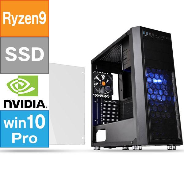【BTO】 ミドルタワー型BTO (Ryzen 9 3900X 3.8GHz/ メモリ16GB/ SSD1.0TB/ Geforce RTX3080/ 10Pro64bit)