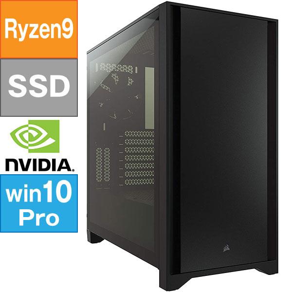 【BTO】 ミドルタワー型BTO (Ryzen 9 5900X 3.7GHz/ メモリ16GB/ SSD1.0TB/ Geforce RTX3080/ 10Pro64bit)