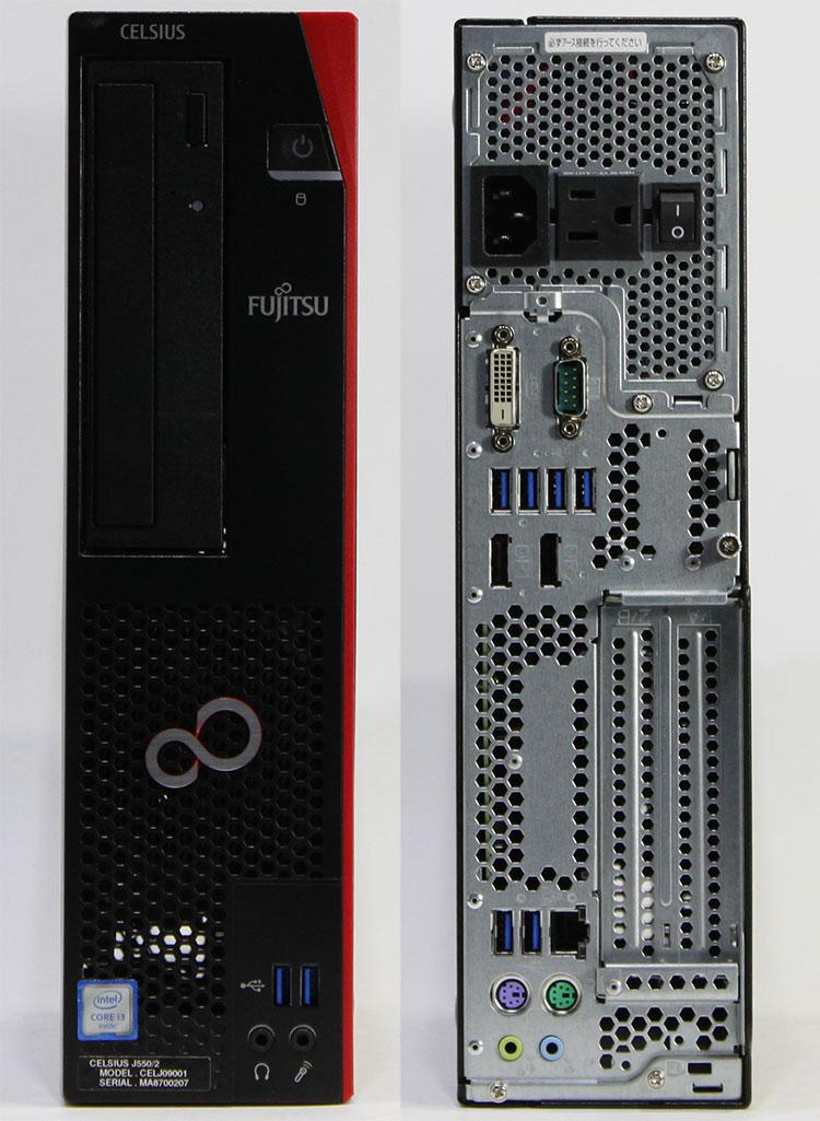 【良品中古】富士通 ワークステーション CELSIUS J550/2 [CELJ09001] (Core i3-6100 3.7GHz/ メモリ8GB/ SSD256GB+HDD500GB/ DVDスーパーマルチ/ 10Pro64bit)