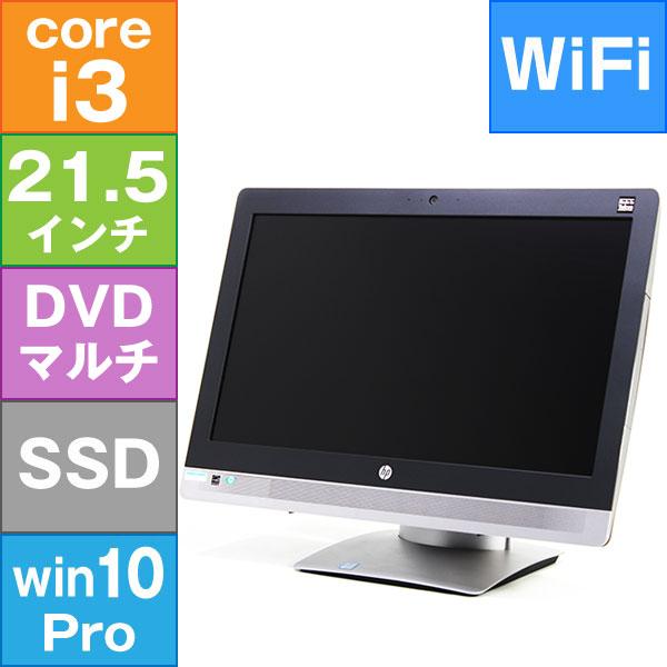 【良品中古】HP 21.5型 ProOne 600 G2 AiO [L3N88AV] (Core i3-6100 3.7GHz/ メモリ8GB/ SSD512GB/ DVDスーパーマルチ/ Wifi,BT/ 10Pro64bit)キーボード、ワイヤレスマウスセット