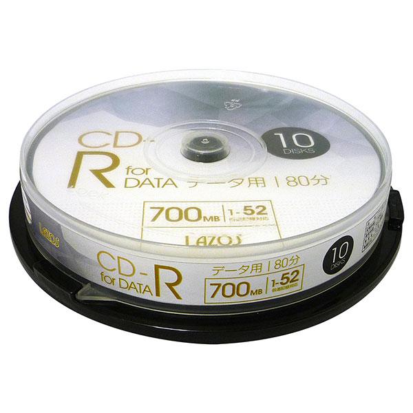 【新品】 CD-R 700MB 52倍速 データ用 10枚 [L-CD10P]