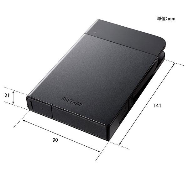 【新品】Buffalo USB3.1接続 耐衝撃ポータブルHDD 2TB ブラック [HD-PZF2.0U3-BKA]