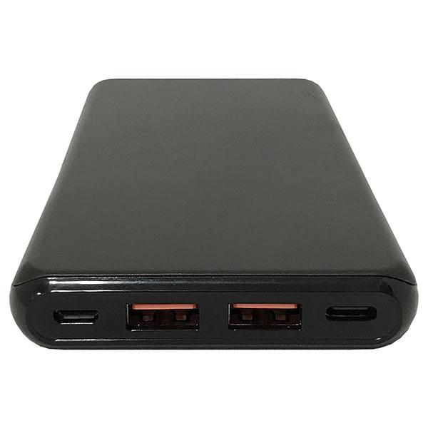 【新品】Lazos 10000mAh モバイルバッテリー 【L-M10CP-B】 (QC3.0/ PD対応/ ブラック)