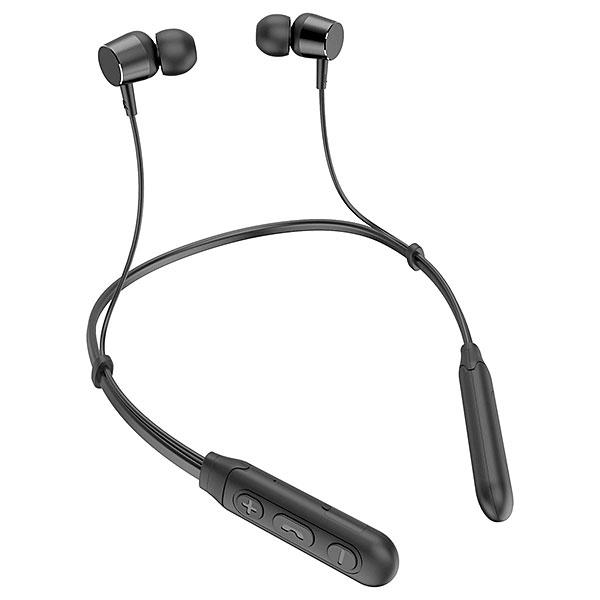 【新品】Lazos Bluetooth5.1+EDR対応 防水ネックバンド型ワイヤレスイヤホン 黒 [L-BTE-BK]