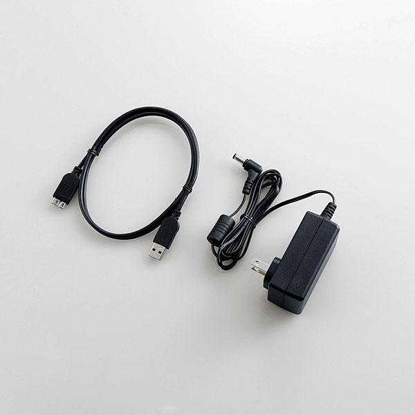 【新品】 3.0TB ELECOM USB3.1接続対応 外付けHDD [ELD-ETV030UBK] TV向け外付けハードディスク ブラック