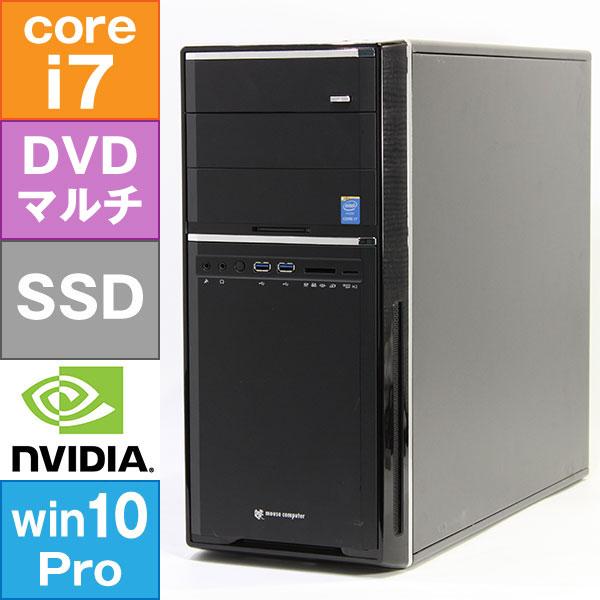 【良品中古】 MouseComputer MDV-QZ7520BL6-WS-W7P (Core i7-4790 3.6GHz/ メモリ16GB/ SSD512GB/ DVDスーパーマルチ/ Quadro K620/ 10Pro64bit)