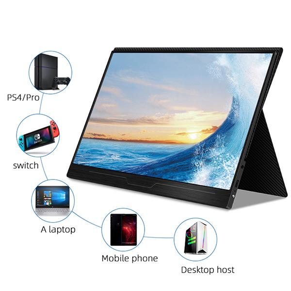 【新品】 GieS 17.3インチ FHD極薄型 モバイルモニター[HS173PE](IPS液晶パネル/ 1080P+HDR/ スピーカー内蔵/ USB-PD対応)