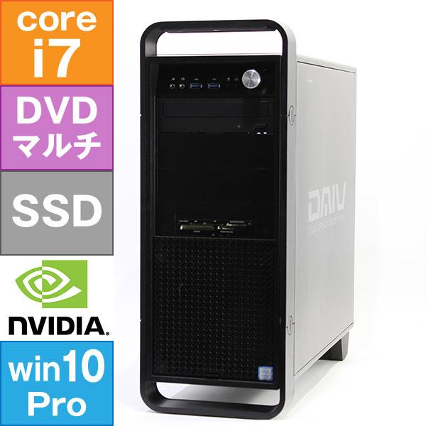 【良品中古】 MouseComputer DAIV-DQZ500E1 (Core i7-6700 3.4GHz/ メモリ16GB/ SSD512GB/ DVDスーパーマルチ/ Quadro K620/ 10Pro64bit)