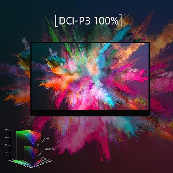 【新品】 GieS 15.6インチ FHD極薄型 QLEDモバイルモニター[HS156PE-Q](QLED液晶パネル/ HDR/ FHD1080P/ スピーカー内蔵/ AMD FreeSync/ フリッカーフリー)