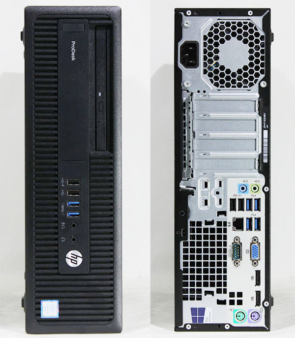 【良品中古】 HP ProDesk 600 G2 SFF [T6A04PA#ABJ] (Core i5-6500 3.2GHz/ メモリ8GB/ SSD240GB + HDD500GB/ DVD-ROM/ 10Pro64bit)