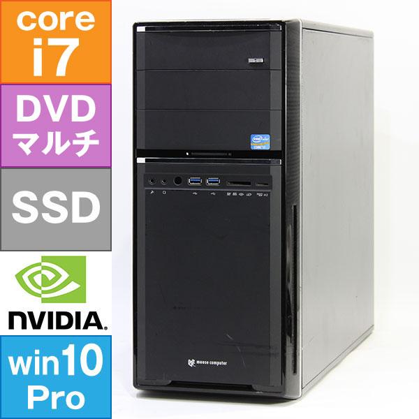 【良品中古】 MouseComputer MDV-AGZ7120X (Core i7-3770 3.4GHz/ メモリ16GB/ SSD240GB/ DVDスーパーマルチ/ Geforce GTX660 2GB/ 10Pro64bit)