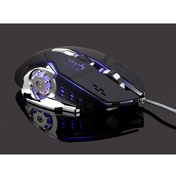 【新品】Lazos 有線ゲーミングマウス 6ボタン ブラック [L-MSG6-B]