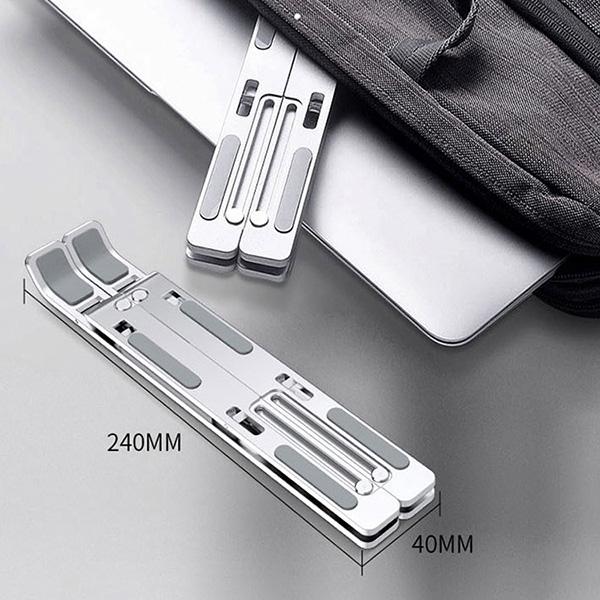【新品】ノートPC・タブレット用 アルミニウム合金スタンド[LP002] (収納ポーチ付き)