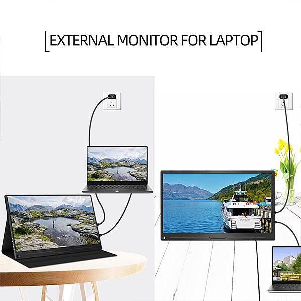 【新品】 GieS 17.3インチ 4K モバイルモニター[HS173KC](IPSパネル/ 4K+HDR/ スピーカー内蔵/ OTG端子/ USB-PD対応)