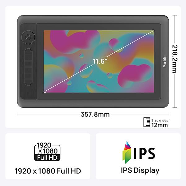 【新品】 Parblo11.6インチ液晶タブレット [Coast12 Pro](並行輸入品)
