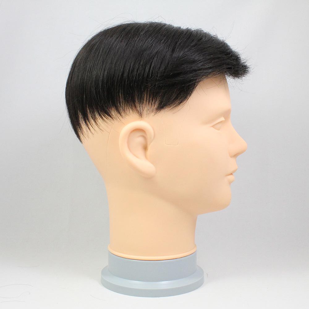 73スタイル N2 (少し暗い色)[男性用総手植えオール合成繊維(ファイバー) 部分かつら]