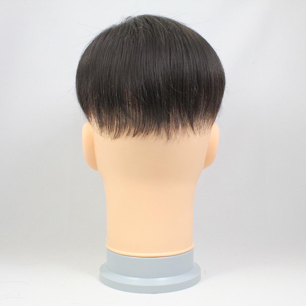 73スタイル N3(少し明るい色) [男性用総手植えオール合成繊維(ファイバー) 部分かつら]