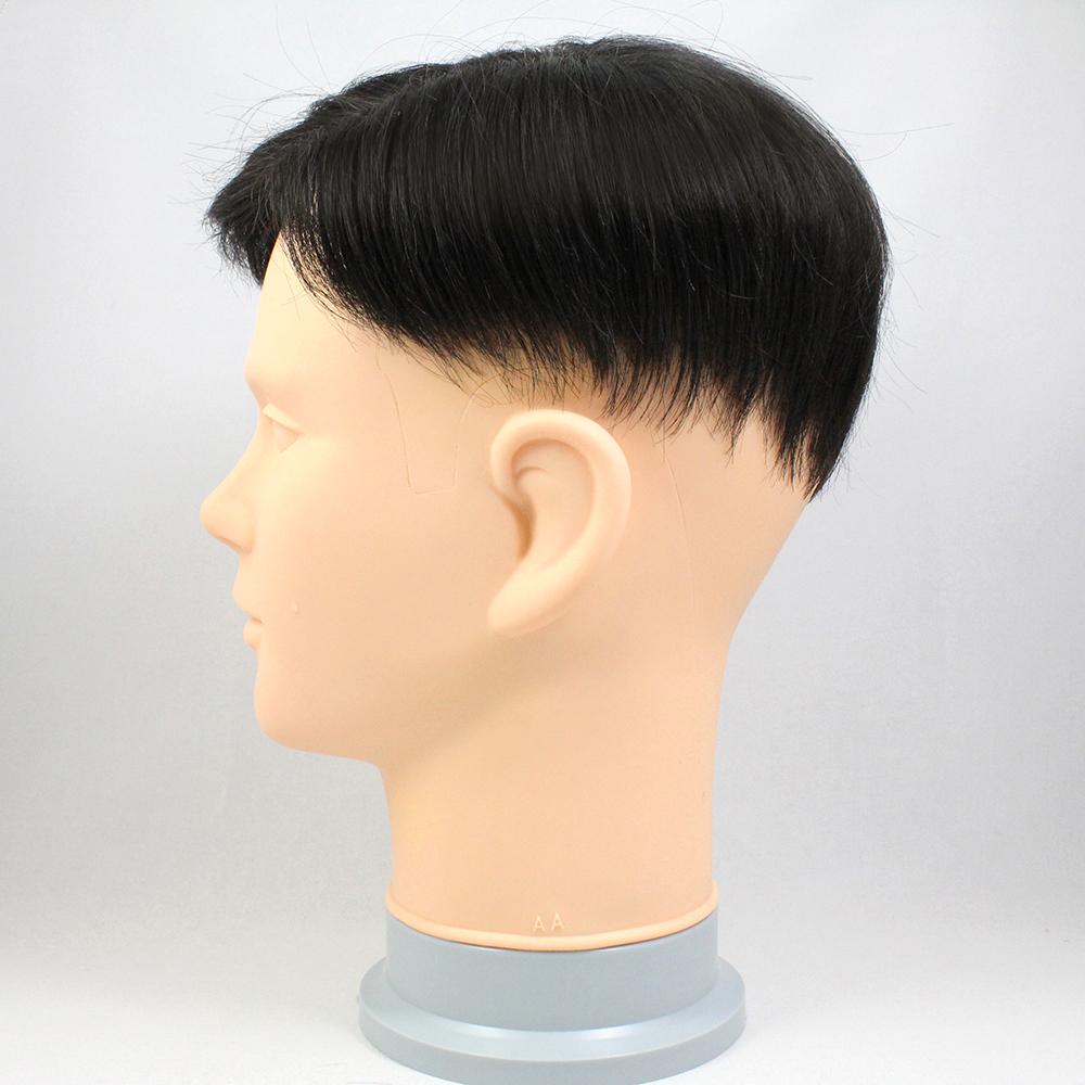 73スタイル G10(白髪10%) [男性用総手植えオール合成繊維(ファイバー) 部分かつら]