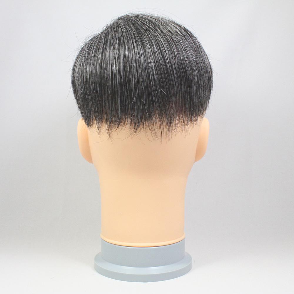 73スタイル G30(白髪30%) [男性用総手植えオール合成繊維(ファイバー) 部分かつら]