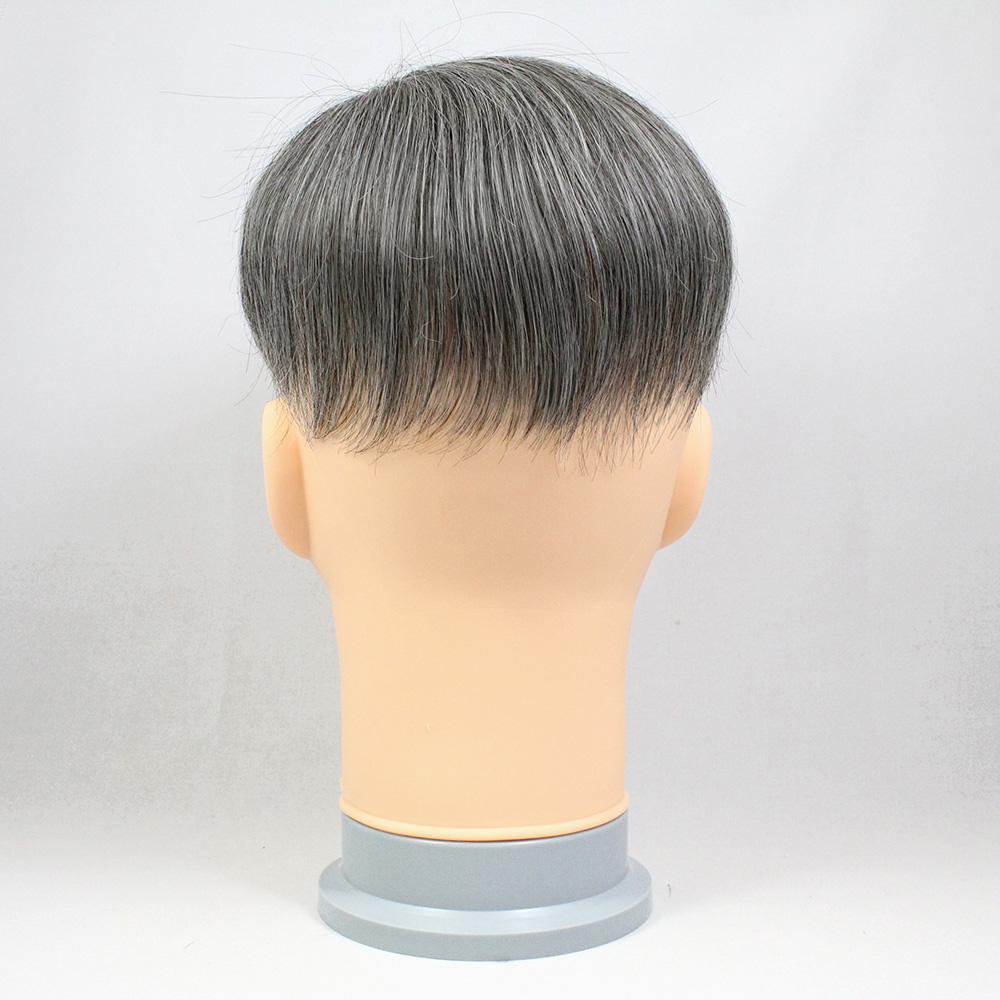 73スタイル G50(白髪50%) [男性用総手植えオール合成繊維(ファイバー) 部分かつら]