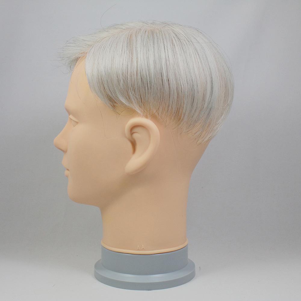 73スタイル G90(白髪90%)  [男性用総手植えオール合成繊維(ファイバー) 部分かつら]