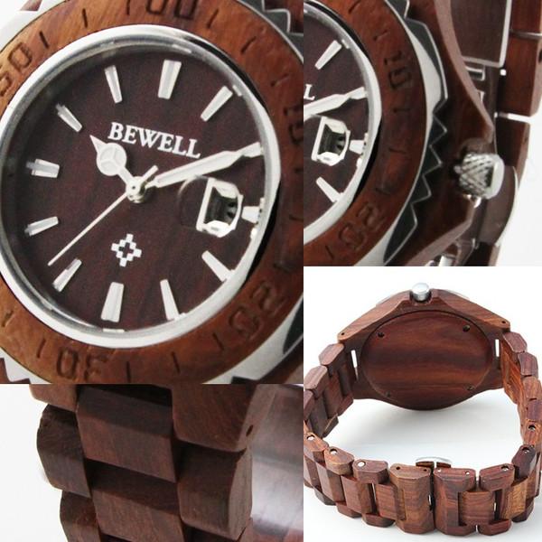 【ペアで使える2サイズ展開】CITIZEN MIYOTAムーブメント仕様 天然木 カレンダー機能付きウッド腕時計【2サイズ展開・BOX・1年保証付き】