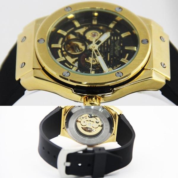 【立体フェイス仕上げ】42mmフェイス仕様フルスケルトン自動巻き腕時計【全2色・保証書付き】BCG124 1025
