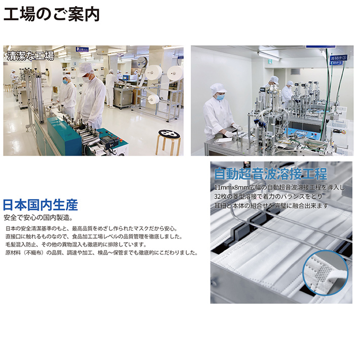 日本製 マスク 個包装 50枚入 安心 清潔の個別包装 BFE99% PFE98% サージカルマスク