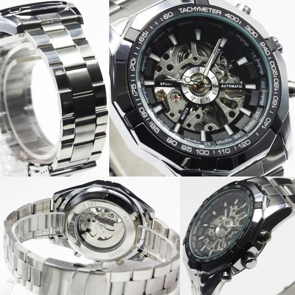 【重厚なビッグフェイス仕様】3Dフルスケルトン自動巻き腕時計【全2色・保証書付き】BCG89