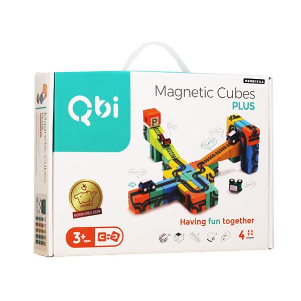 【ポイント10倍】QBI(キュービーアイ) PLUS プログラミング的思考を育てる磁石ブロック知育玩具 33ピース・車4台入り