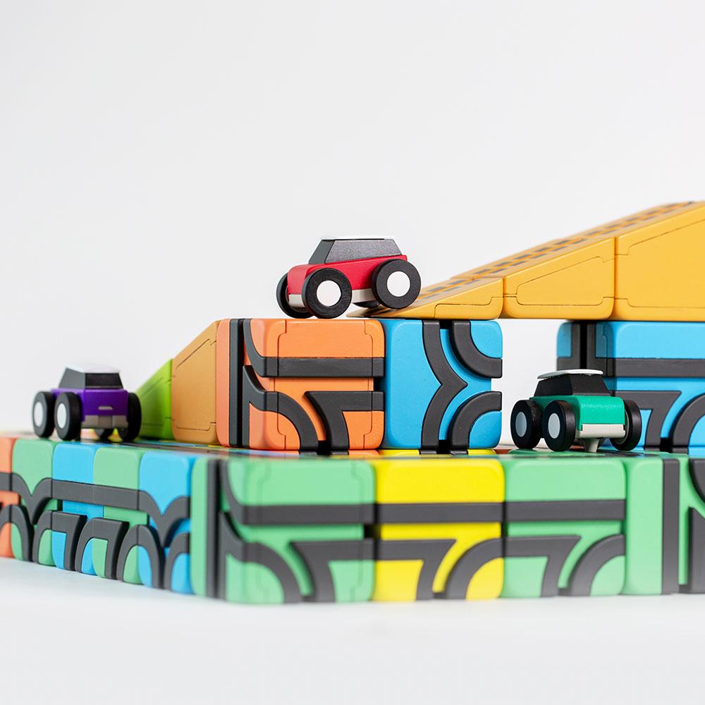 Qbi toy(QBI) 拡張キット 車4台 Expansion kit 4 Toy Cars
