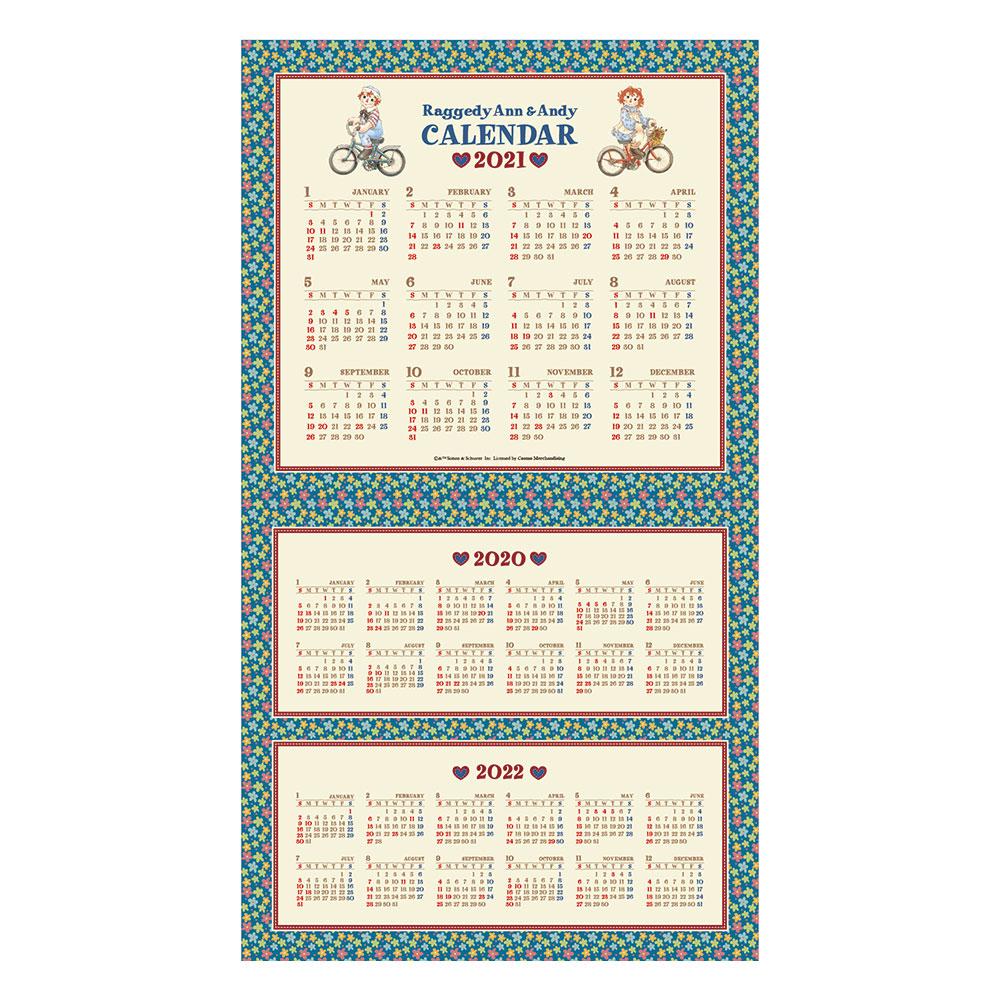 【限定オリジナルシール付き】ラガディ アン&アンディ 2021年壁掛けカレンダー 限定プレゼント 2020年12月始まり