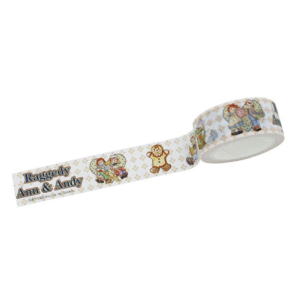 Raggedy Ann&Andy(ラガディ・アン&アンディ)マスキングテープ(White) マステ