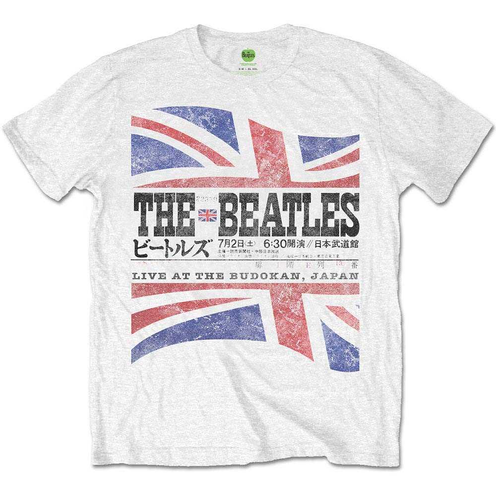 ビートルズ武道館50周年記念 BEATLES - (来日55周年記念 ) - BUDOKAN SET LIST(ヴィンテージ加工) / バックプリントあり / Tシャツ / メンズ