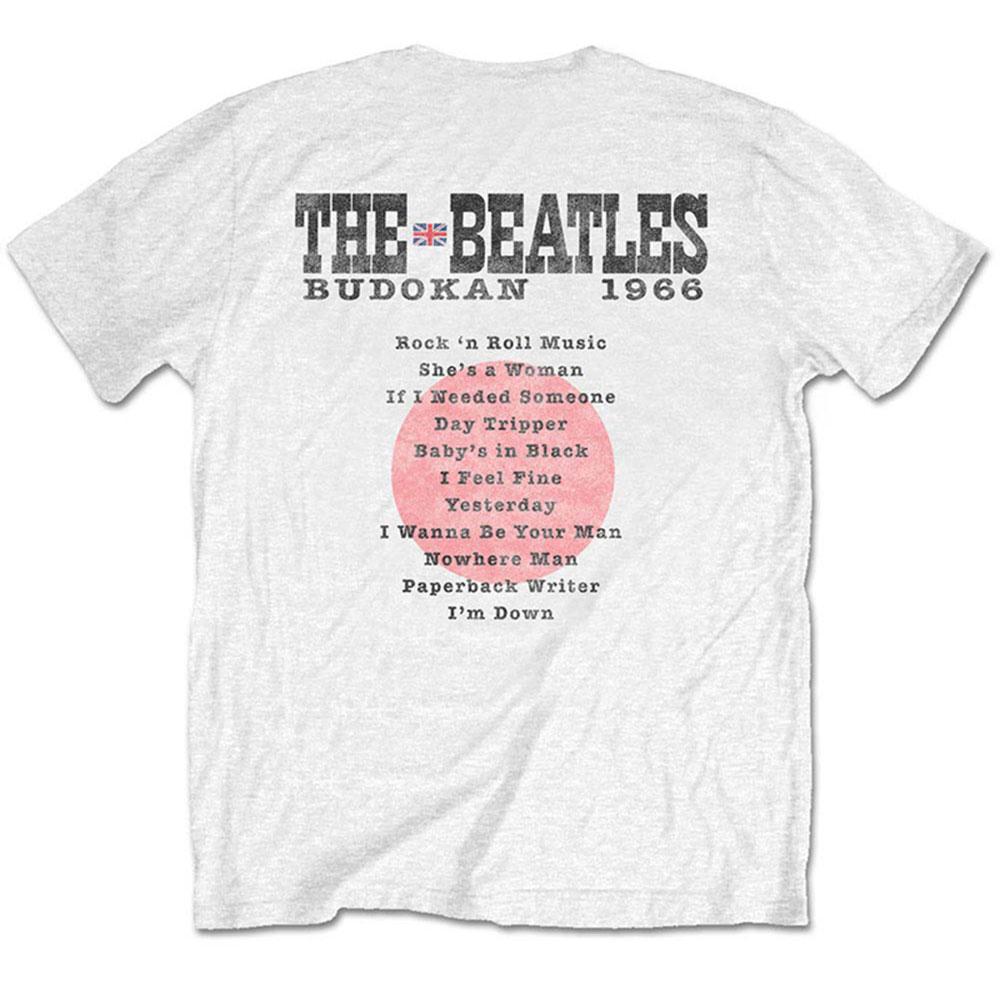 【予約商品】 ビートルズ武道館50周年記念 BEATLES - (来日55周年記念 ) - BUDOKAN SET LIST(ヴィンテージ加工) / バックプリントあり / Tシャツ / メンズ