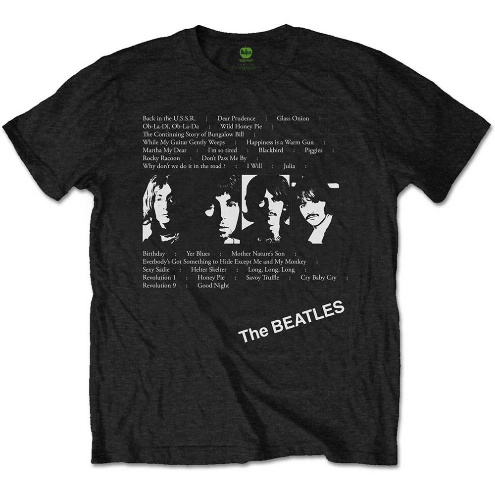 BEATLES - (来日55周年記念 ) - White Album Tracks / バックプリントあり / Tシャツ / メンズ