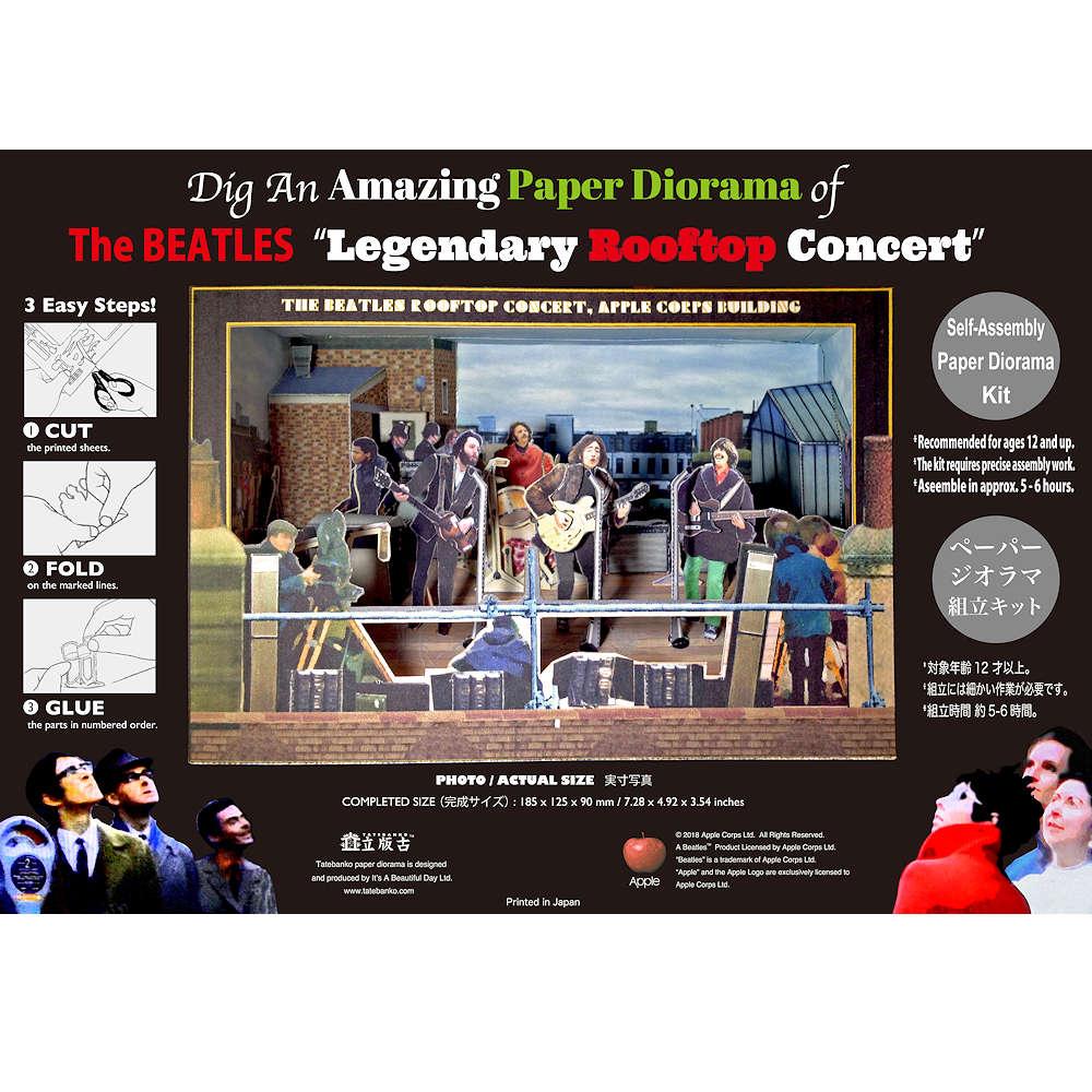 BEATLES - (来日55周年記念 ) - Legendary Rooftop Concert / Tatebankoペーパージオラマ / グッズ