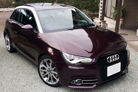 Audi A1 RSスタイル フロントグリル・マットシルバーフレーム