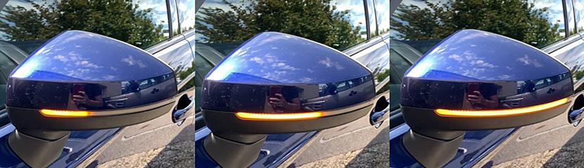 Audi A3/S3(8V) シーケンシャル ミラーウィンカー・ハーフスモーク
