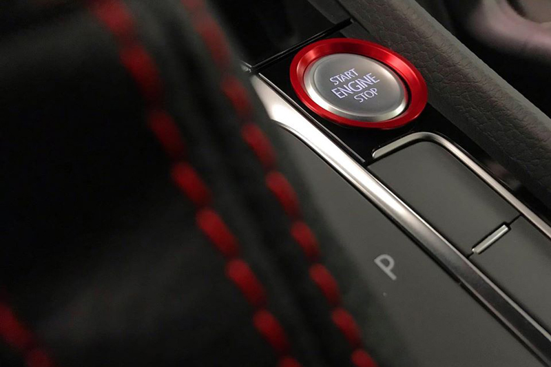 エンジン スタートストップ ボタン リングトリム・レッド GOLF7系 core OBJ select